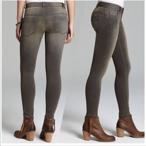 Free People gray stretch ankle skinny jeans